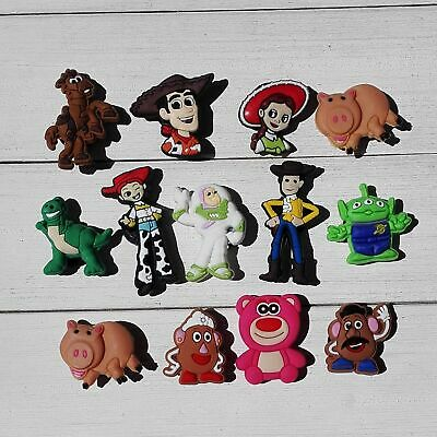 50pcs Lot Toy Story PVC Shoe Charms Buckles fit for Shoes Wristband Kids Gifts