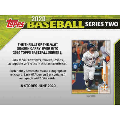 2020 Topps Series 2 JUMBO BOX WITH 2 SILVER PACKS  Presell 6/10   LUIS ROBERT RC