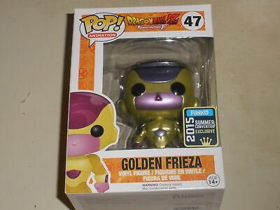 Funko POP DRAGON BALL Z GOLDEN FRIEZA 47 2015 CONVENTION EXCLUSIVE WEAR ON BOX