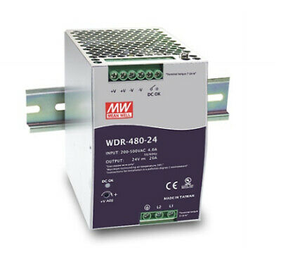 Meanwell MEAN WELL WDR-480-48 - 480 W - 180 - 550 V - 1% - 47 - 63 Hz - 1.6