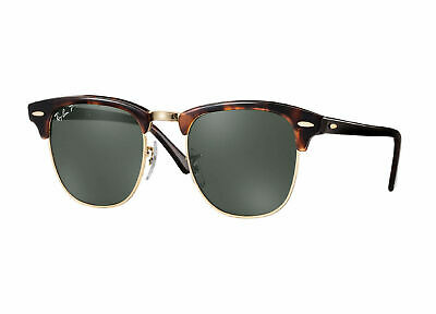 RayBan Clubmaster POLARIZED Sunglasses Tortoise Green Classic 3016 990/58 49-21