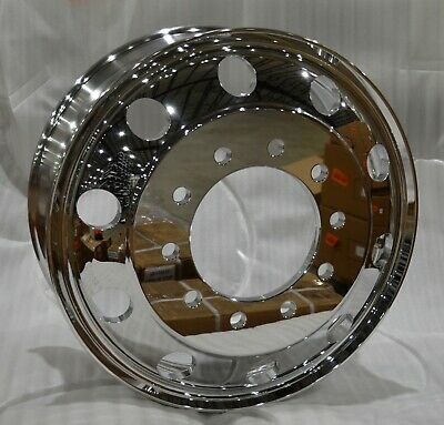 Commercial Truck Trailer 24.5 X 8.25 Aluminum Wheel Mirror Polished Hub Pilot