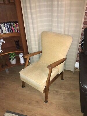 Vintage Armchair, Mid Century Modern Danish Styling In Oak Chair