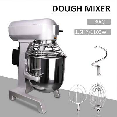 30L Commercial Food Dough Mixer Planetary Stand Bread Cake Beater 1100W Whip