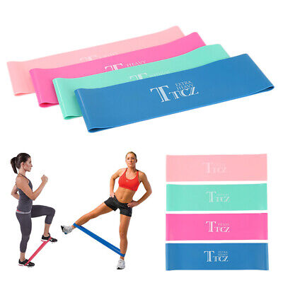 RESISTANCE BANDS LOOP SINGLES - Home Workout Exercise Glutes Yoga Pilates do1