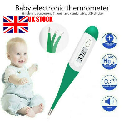 Digital LCD Thermometer Medical Baby Adult Body Kids Underarm Mouth Temperature