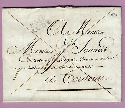 Marque P33P Agde Herault 1816 Toulouse Lettre Cover