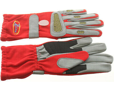 Go Kart XLine Race Gloves Red Extra Large XL Karting Racing Race