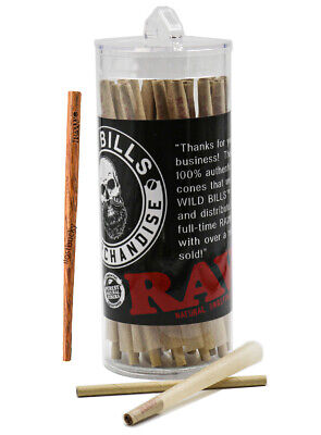 RAW Classic King Size Authentic Pre-Rolled Cones~75 Pack~FREE RAW Cone Poker