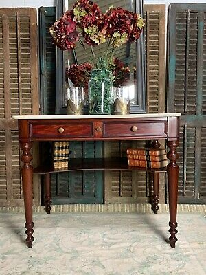 Fantastic Quality French Mahogany And Marble Washstand Side Table Console