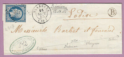 N°14 Pc 2317 Olargues Herault Boite Rurale B Premian Double Port Local ?? Lettre