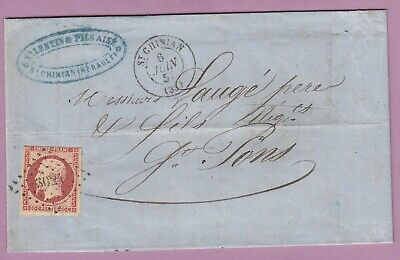 N°17A Pc 3024 St Chinian Herault St Pons Lettre Cover