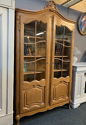 Fantastic Quality Louis Xvi Style French Carved Oak Cabinet Bookcase  *Delivery*