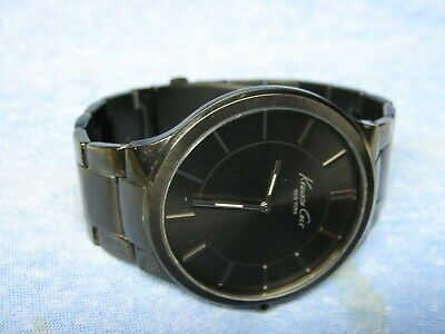 Men's Larger KENNETH COLE Black Water Resistant Watch w/ New Battery