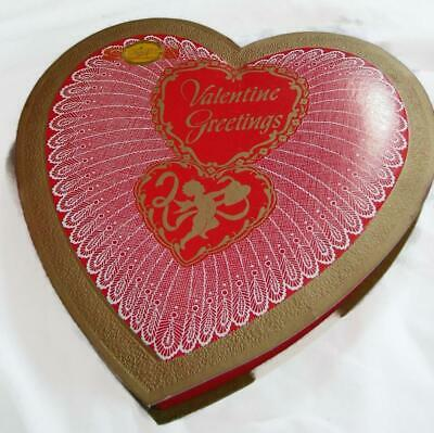 Vintage Valentine Heart Candy Box - Kaaps - 9-1/2 Inch