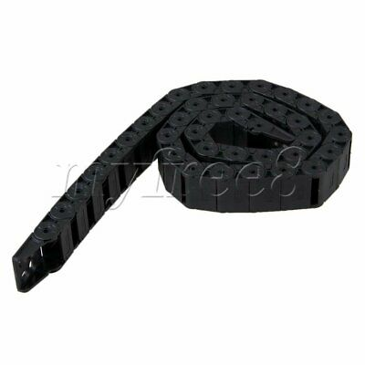 Black Nylon R28 Semi-Closed Cable Drag Chain Wire 1m Length 30mm Inner Length