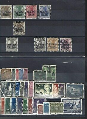 German occupation of Poland.  Collection of 36 stamps, Mint & Used