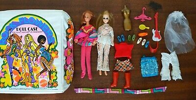 Vint 70's ROCK FLOWER & DAWN ~ Case, Dolls, Clothes & Accessories~PIPPA~MIX LOT