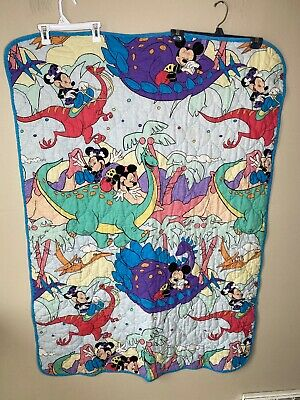 Childrens Blanket 1980s 1990s Mickey Mouse Minnie Handmade