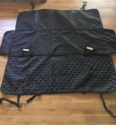 Honest Outfitters Dog Seat Cover Quilted Black Backseat