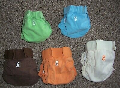 Lot of 5 G Diapers gDiapers & Plastic Liners ~ 2 Small 3 Medium
