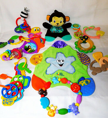 Infant Toy Lot of 14 Developmental Infant Toys Sensory Baby Teether Loveys