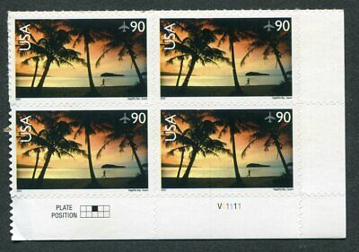US  C143  Beautiful  Mint  NEVER  Hinged AIR  MAIL Plate  Block  UPTOWN