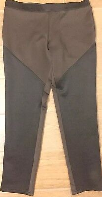 Pure Amici Stretch Pull On Color Block Color Chocolate/Black Size XL Pants