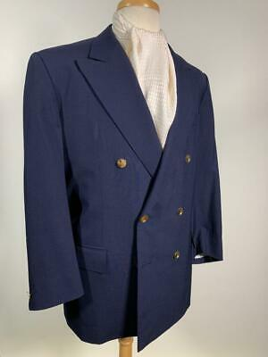 VITO SMERALDI new york BESPOKE BLUE BLAZER 44 us 54 eu working cuff buttons