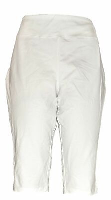 Wicked By Women with Control Women's Petite Pants LP Capri Length White A352759