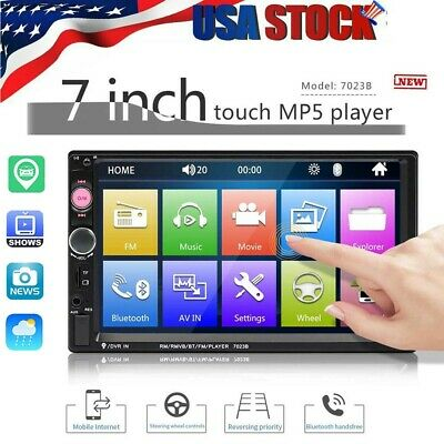 "7"" Double 7023B 2 DIN Car Multimedia Car FM Stereo Radio MP5 Player Touch Screen"