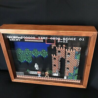 "CASTLEVANIA SHADOWBOX ART Officially Licensed By Konami 12 1/2"" x 15"" x 3 1/2"""