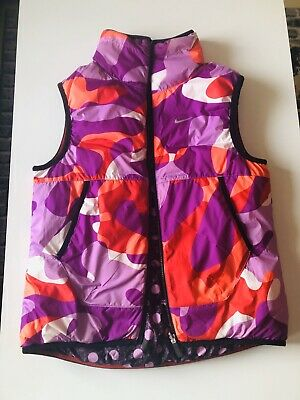 Girls Kids NIKE Alliance Gilet Bodywarmer Vest 13 Years Reversible Exellent