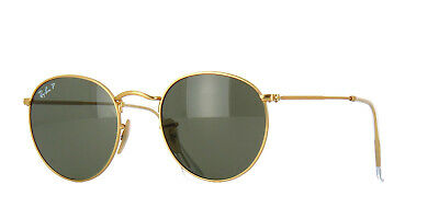 RayBan Round Metal POLARIZED Sunglasses - Gold Green Classic 3447 001/58 50-21