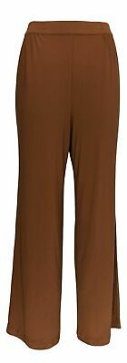 Linea by Louis Dell'Olio Women's Pants Sz S Moss Crepe Brown A273877