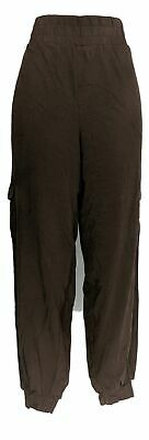 Anybody Women's Pants Sz L Tall Cozy Knit Cargo Jogger Brown A310169