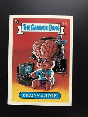 The Garbage Gang Brainy Jamie 27a 1985 Card Sticker Vintage