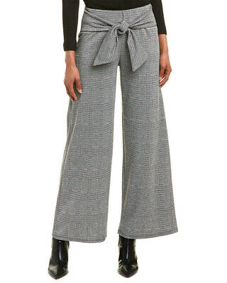 Rosewater Remi Houndstooth Wide Leg Pant Women's Grey M