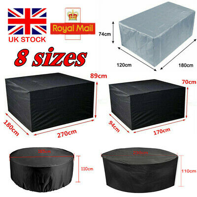 Extra Large Garden Rattan Outdoor Furniture Cover Patio Table Protection Cube UK