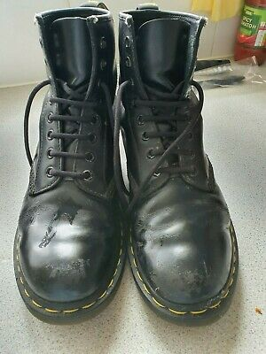 Dr Martens 8-Eye Classic Airwair 1460 Leather Ankle Boots Unisex Size 6