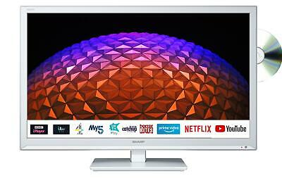 """Sharp 24BE0KW 24"""" HD Ready Smart White TV/DVD Combi HD Ready Active Motion 100"""