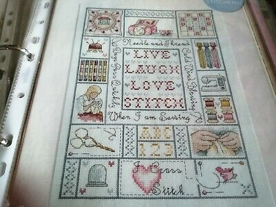 L Live Laugh Love Sewing Sampler Cross Stitch Chart