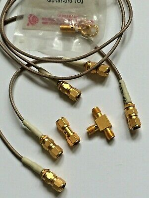 SMA gold connectors and cables
