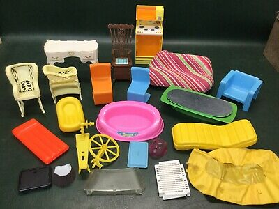 Vintage 1970s Mattel Barbie Furniture ~ Sofa Coffee Table Kitchen Chairs & More