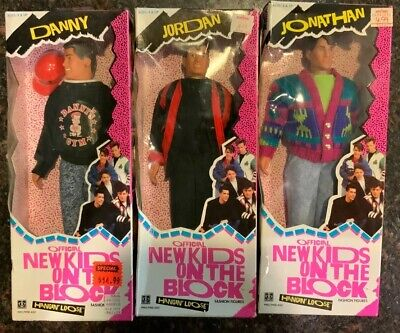 1990 New Kids On The Block NKOTB Hanging Loose Fashion Figure Doll LOT OF 3 NRFB