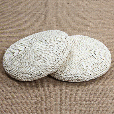 Living Room Round Stuffed Footrest Home Pouffe Rustic Seat Pad Straw Knitting
