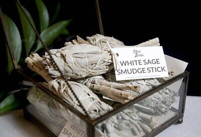 """2-pack Cali White Sage Smudge Stick 4"""" - 6""""House Cleansing Remove Negativity."""