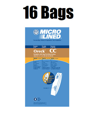 16 DVC Upright Vacuum Bags for Oreck XL CC Microlined