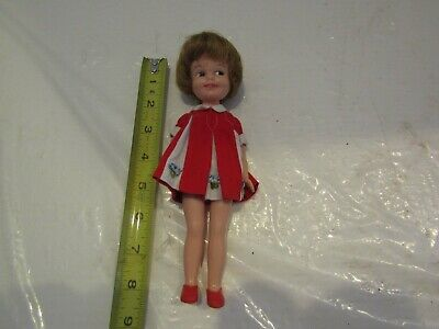 VINTAGE Penny Brite Doll Deluxe Reading Original Red Dress RED SHOES 8 INCH