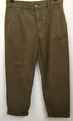 "Mother Greaser Prep Slant Front Pockets Cuffed Hem Brown Size 27 X 25""Pants"